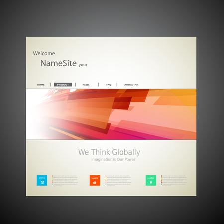 website design: Website Template Vector Design, easy editable Illustration