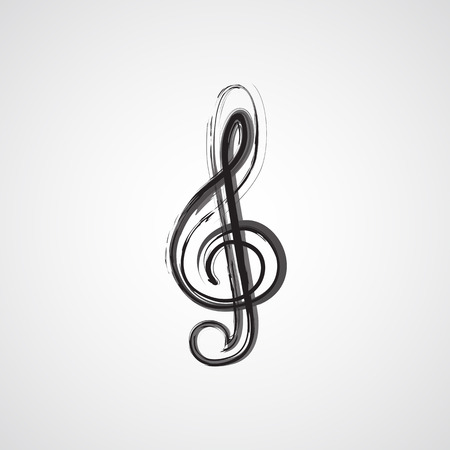 semiquaver: Music notes on a solide white background, easy editable
