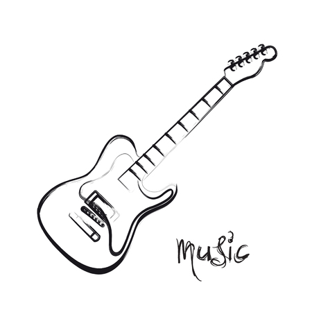 accords: Electric Guitar hand drawn, easy all editable