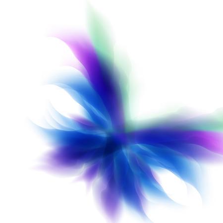 Kort vlinder achtergrond, eenvoudig alle bewerkbare Vector Illustratie