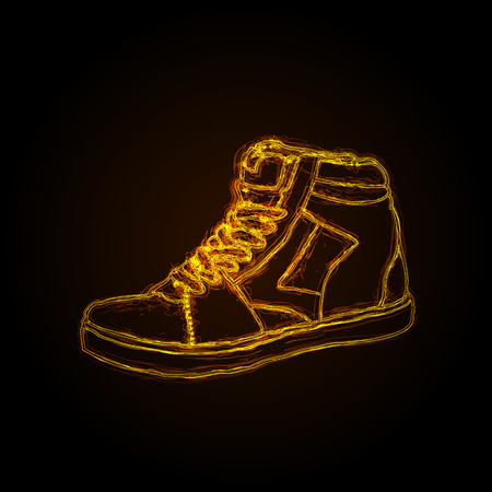 sneakers light dirty style, easy editable