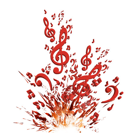 Colorful music vector explosion background