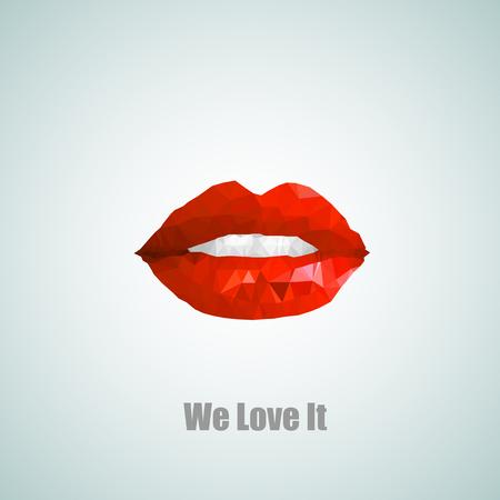 love is it: We love it Woman lips easy all editable