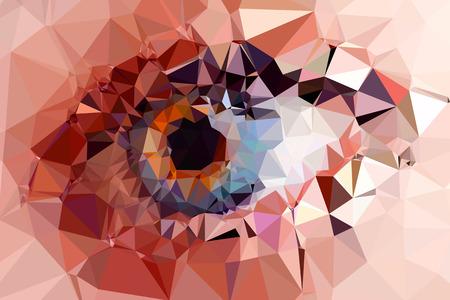 eye triangles design easy editable Vettoriali