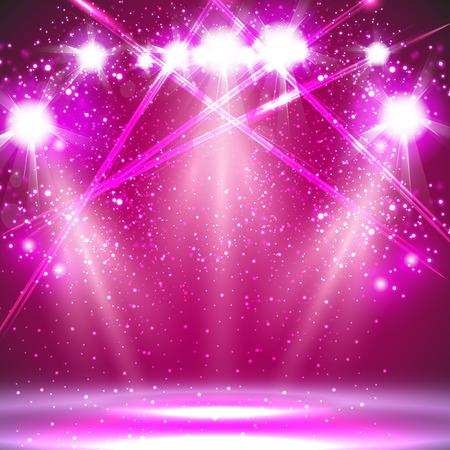 Lumière de projecteur de fond Banque d'images - 56615808