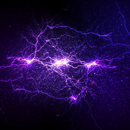 Lightning flash strike background easy editable 向量圖像