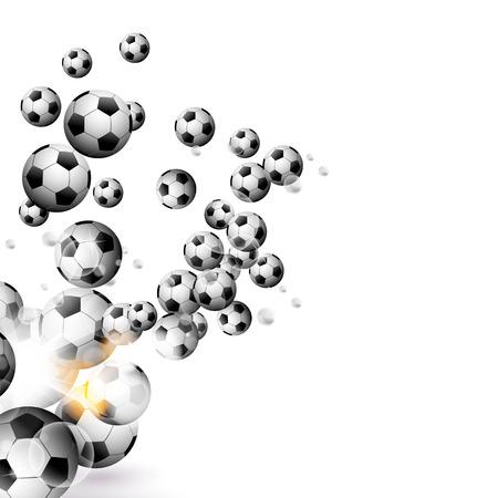 pelota de futbol: balón de fútbol aislado en un fondo blanco  Vectores