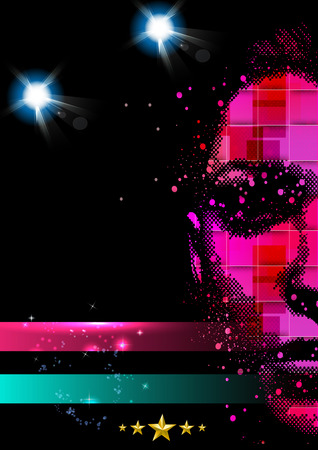 disco: Disco Party Poster Background Template
