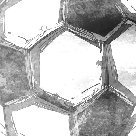 Football soccer ball abstract background easy editable Illustration