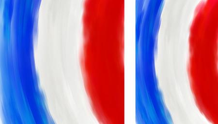 french flag: French flag made of colorful splashes Illustration