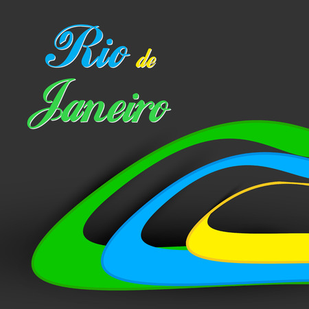 brazilian flag: Rio background colors of the Brazilian flag