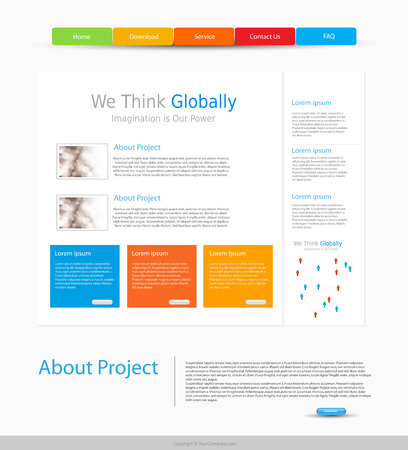 website design: website design template, easy editable