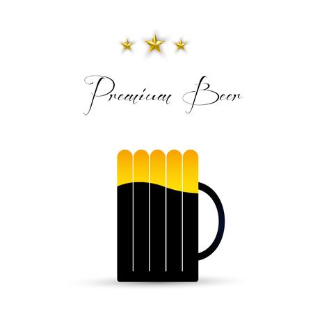 Beer design menu background, easy all editable