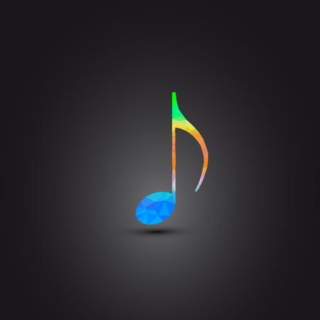 Music note Icon background easy editable