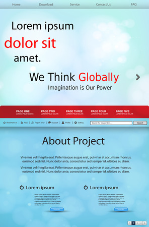 website template for business easy all editable Ilustrace