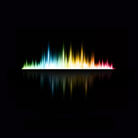 illustration of music equaliser easy editable  イラスト・ベクター素材