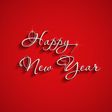 Elegant text design happy new year 矢量图像