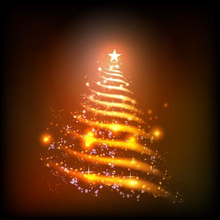abstract christmas tree easy all editable