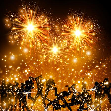 Party Background, club, nightlife, fireworks background Illustration