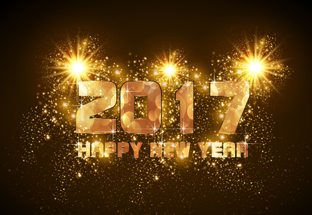 Happy New Year 2017 easy all editable