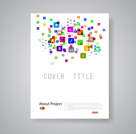 Modern abstract brochure book flyer design template Ilustrace