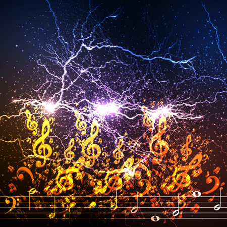 Abstract music background illustration easy all editable - vector illustration. Illustration