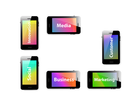 Smart phone business information media cover  easy editable Ilustrace