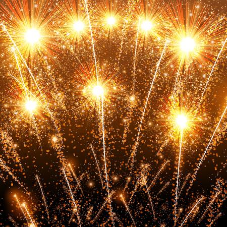 Fireworks display template design.