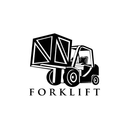 forklift truck, forklift truck trendy filled icons from Transport collection, forklift truck vector illustration