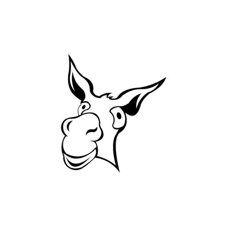 A donkey cute animal cartoon character , Donkey icon, Donkey symbol design from Animals collection.