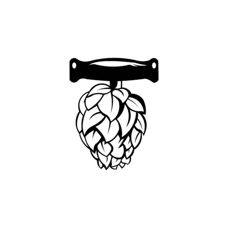 BREWING LABEL LOGO DESIGN VECTOR,Hop emblem icon label logo,Premium Quality Beer Hops Label