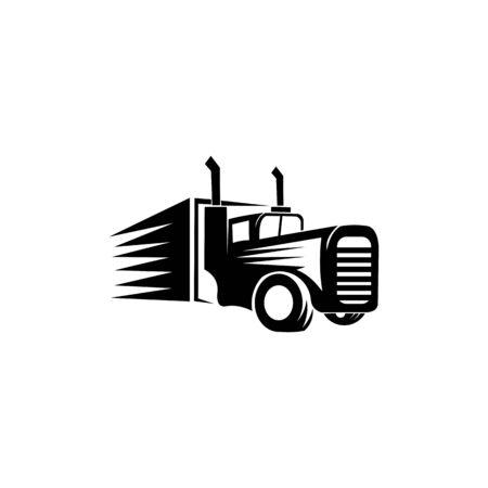 tow Truck Trailer Logo Transportation - inspiration Vector van Ilustração