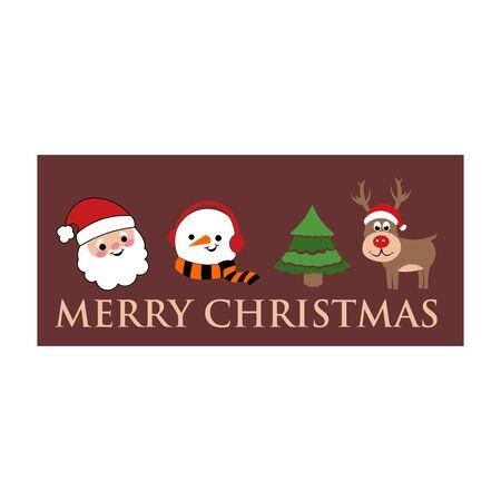 santa, snowman, fir, deer, moose a Christmas