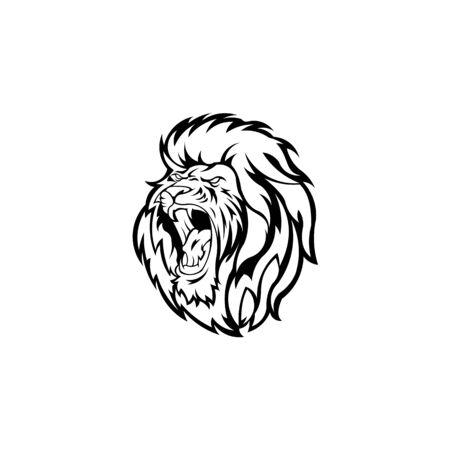 Lion head. Logotype of vector template. inspiration logo lion head