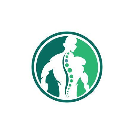 Creative Chiropractic Concept Logo Design Template,body care logo inspiration. Logó