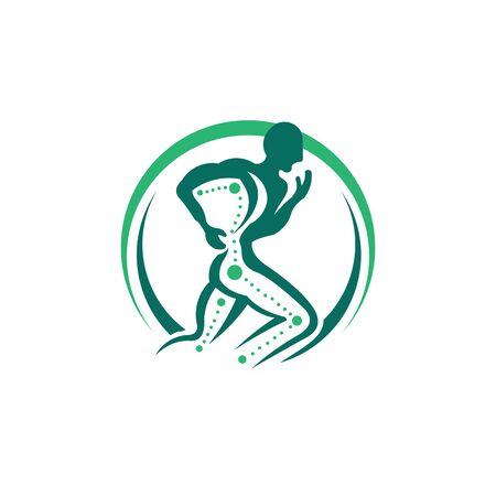 Creative Chiropractic Concept Logo Design Template,body care logo inspiration.
