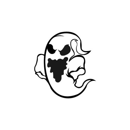 Ghost logo inspiration , Halloween logo.