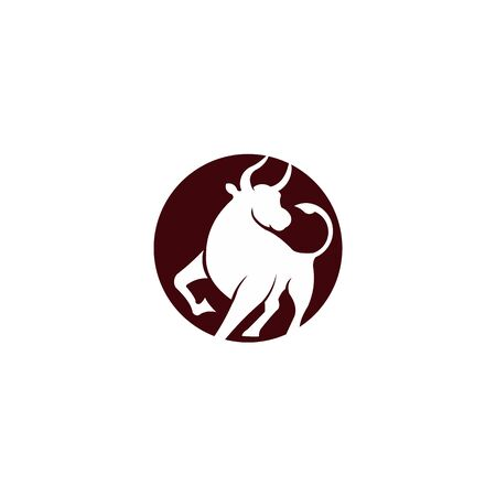 Bull logo, silhouette of a bull, bull vector, buffalo  logo inspiration