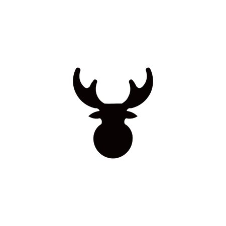 Horned Animals Silhouette Collection Deer Stag Moose Caribou