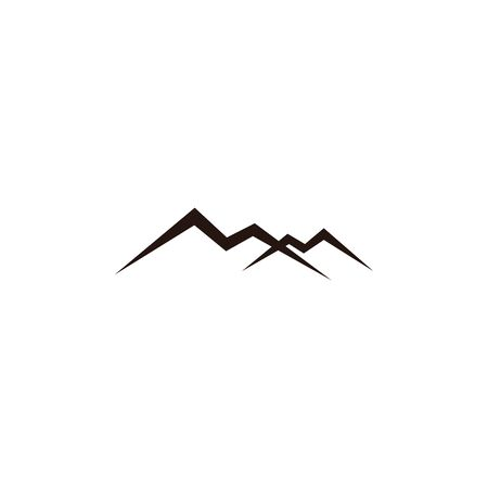 mountain landscape outdoor peak adventure silhouette logo 矢量图像