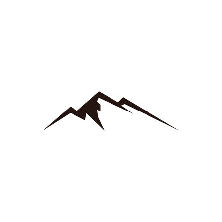 mountain landscape outdoor peak adventure silhouette logo  イラスト・ベクター素材