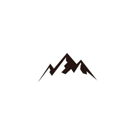 mountain landscape outdoor peak adventure silhouette logo Illustration
