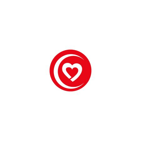 health care logo with heart shape