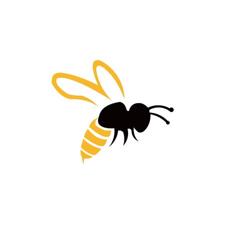 Bee animal icon. Honey flying bee. Insect.bugs, insects and arachnids Flat style vector illustration.