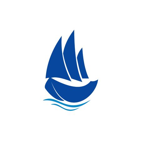 sailing boat vector logo Brand Identity for Boating Business