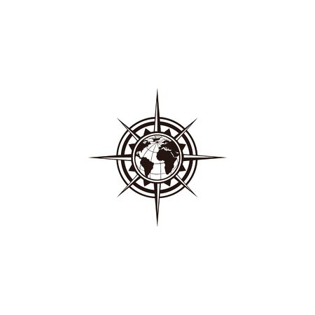 inspiration Creative Compass Concept Logo Design Template, Compass Logo sign and symbol., Coastal Logo Compass