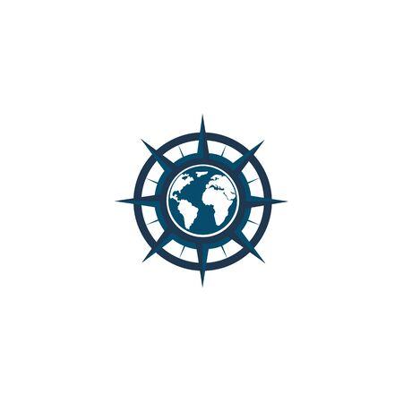 inspiration Creative Compass Concept Logo Design Template, Compass Logo sign and symbol., Coastal Logo Compass 版權商用圖片 - 134042131