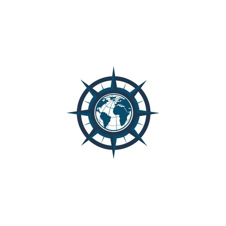 inspiration Creative Compass Concept Logo Design Template, Compass Logo sign and symbol., Coastal Logo Compass 版權商用圖片 - 134042129
