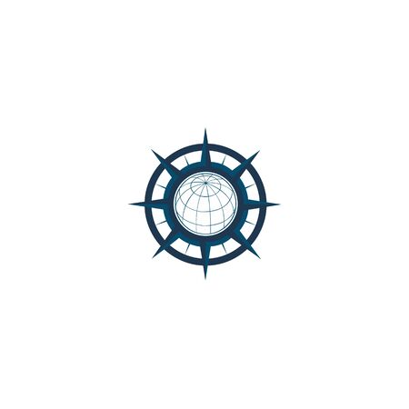 inspiration Creative Compass Concept Logo Design Template, Compass Logo sign and symbol., Coastal Logo Compass 版權商用圖片 - 134042132