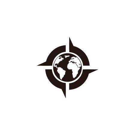 Inspiración Creative Compass Concept Logo Design Template, Compass Logo sign and symbol., Coastal Logo Compass Logos